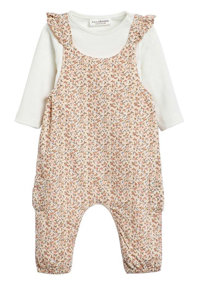 PINK DITSY DUNGAREES (0MTHS-2YRS) - Hängselbyxor - pink