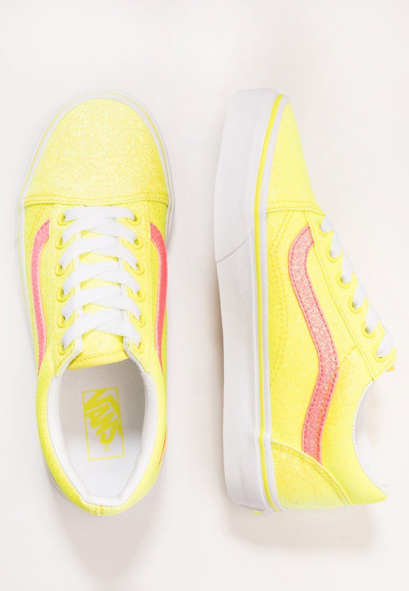 Vans - OLD SKOOL - Tenisky - neon glitter yellow/true white