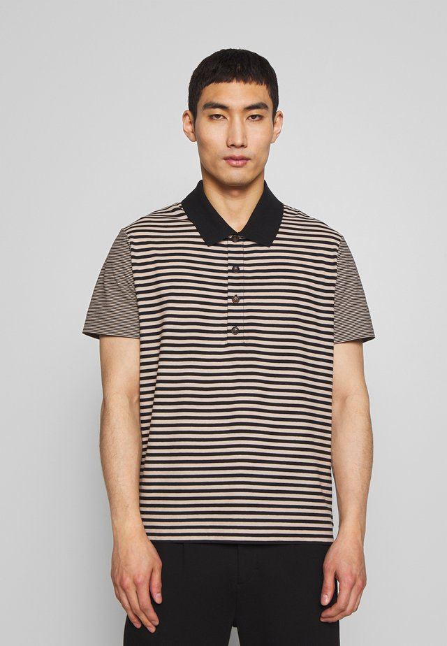 STRIPED  - Polo shirt - camel combo