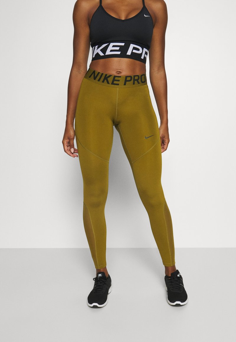 Nike Performance - Leggings - olive flak/olive flak/black