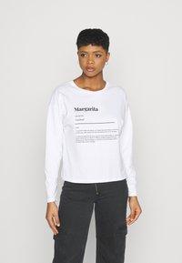 Never Fully Dressed - MARGARITA BOXY TEE - Long sleeved top - white - 0