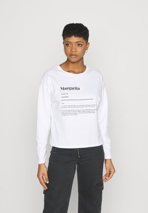 MARGARITA BOXY TEE - Long sleeved top - white