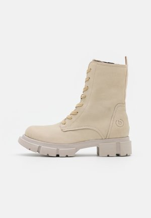 FABELLA - Platform ankle boots - offwhite