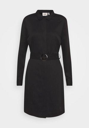 PERI BELT DRESS - Abito a camicia - black