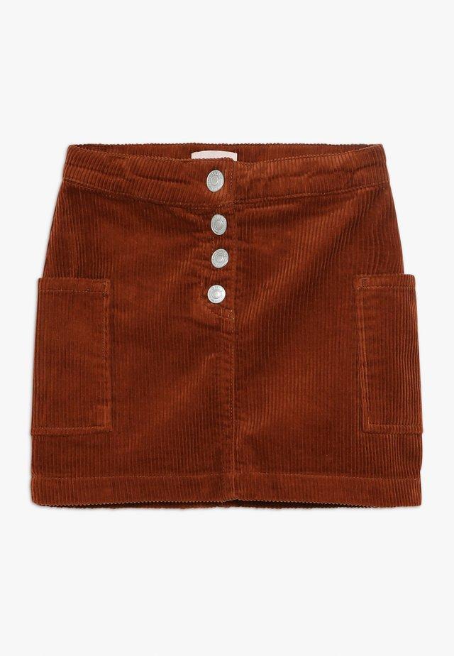 KONSHILA SKIRT - Mini skirt - ginger bread