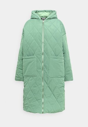 QUILTED LONGLINE COAT - Parka - green