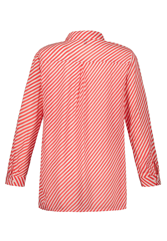 Ulla Popken MIT QUERSTREIF - Overhemdblouse - bright orange - Dameskleding Uniseks