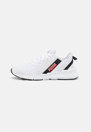 WEAVE XT - Stabilty running shoes - white/black/ignite pink