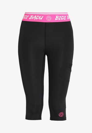 BRUNA TECH CAPRI - 3/4 sports trousers - black
