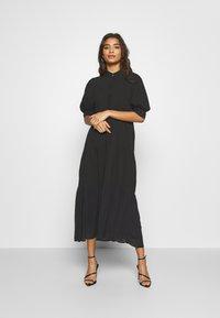 Never Fully Dressed - PANEL MAXI DRESS - Denní šaty - black - 0