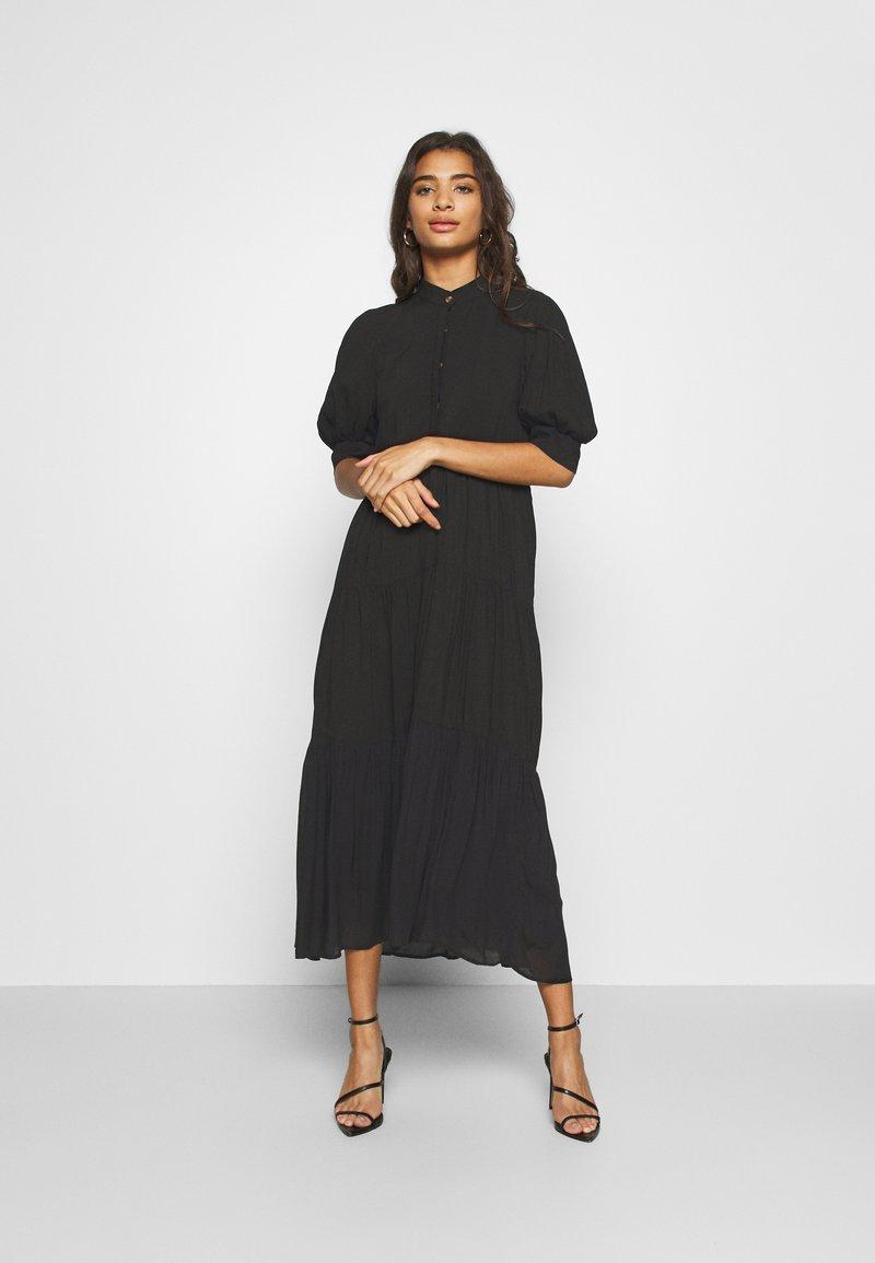 Never Fully Dressed - PANEL MAXI DRESS - Denní šaty - black