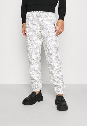 Pantalon classique - blanc/bleu marine