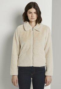 TOM TAILOR DENIM - Winter jacket - dusty beige - 0