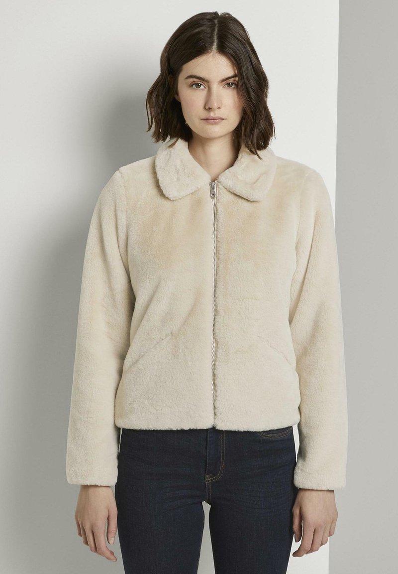 TOM TAILOR DENIM - Winter jacket - dusty beige