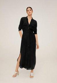 Mango - NINGBOX-I - Shirt dress - black - 1