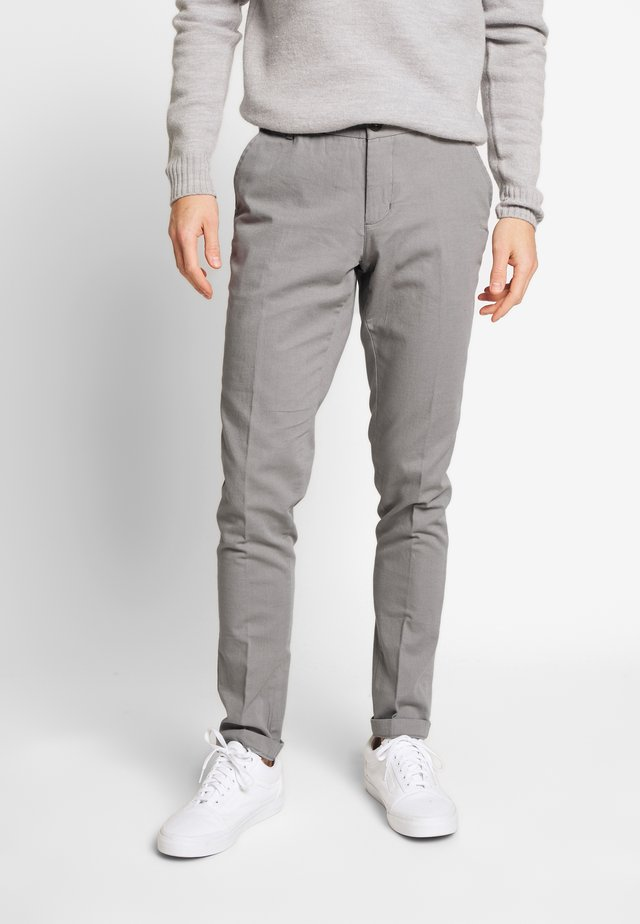 ROLF SLIM - Spodnie materiałowe - grey