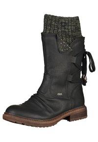 Rieker - Stivali con i lacci - black/grey - 6