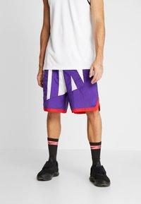 Nike Performance - DRY SHORT THROWBACK - Krótkie spodenki sportowe - white/court purple/university red - 0