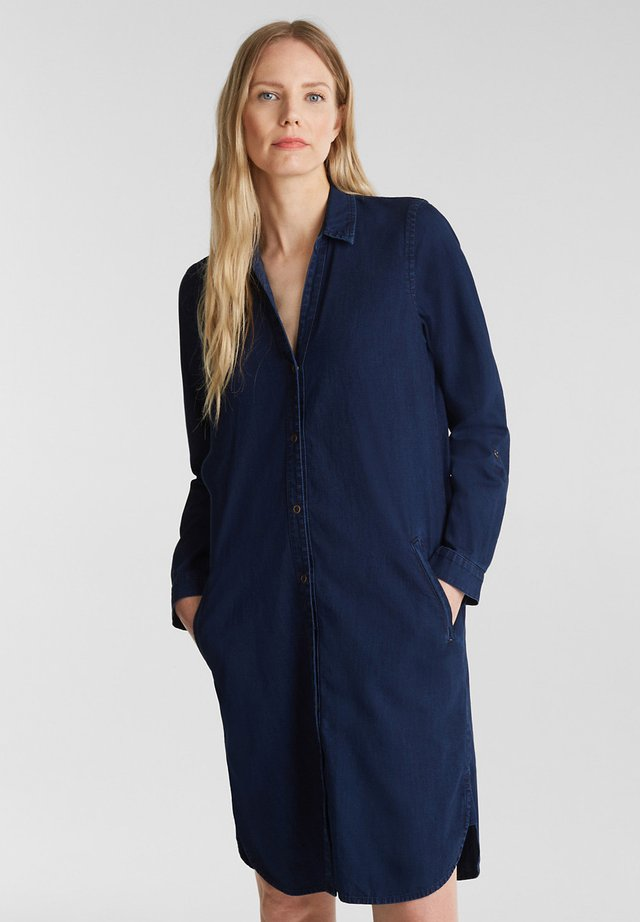 Shirt dress - blue dark wash