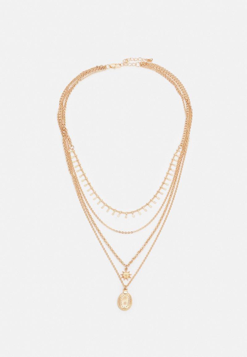 Pieces - PCSKIA COMBI NECKLACE - Necklace - gold-coloured
