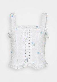 Missguided - FLORAL BRODERIE CORSET  - Top - white - 4