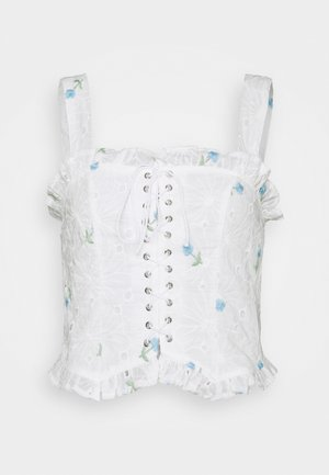 FLORAL BRODERIE CORSET  - Topper - white