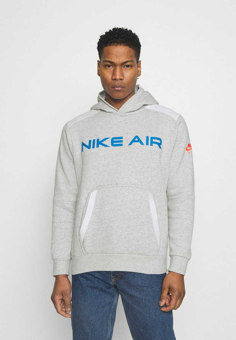 Nike Sportswear - AIR HOODIE - Hoodie - grey heather/summit white/infrared 23