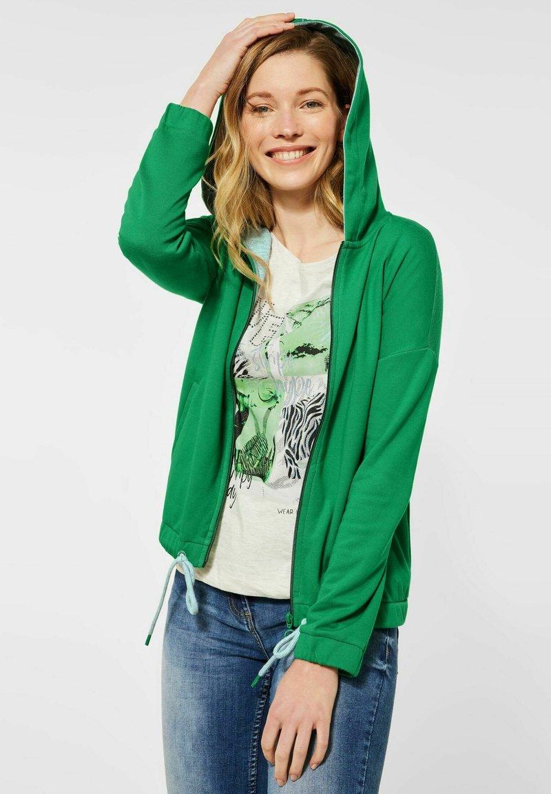 Cecil - Zip-up hoodie - grün