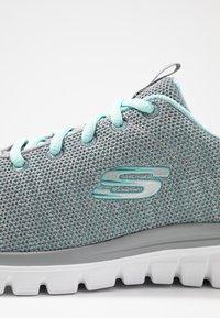 Skechers Wide Fit - WIDE FIT GRACEFUL - Trainers - gray/mint - 2