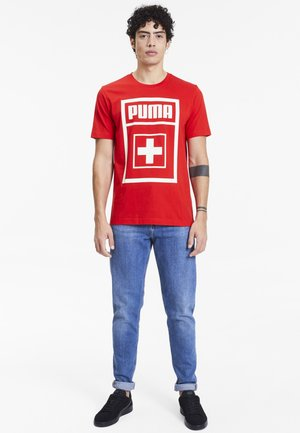 T-shirt con stampa - puma red