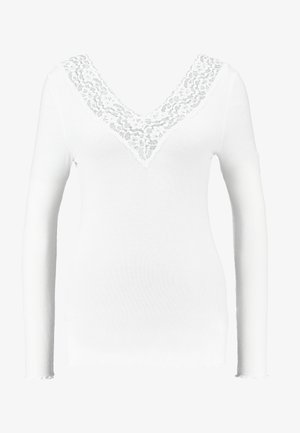 PCSIRI - Long sleeved top - bright white