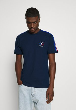 STRIPES SPORTS INSPIRED SHORT SLEEVE TEE UNISEX - T-shirt imprimé - collegiate navy