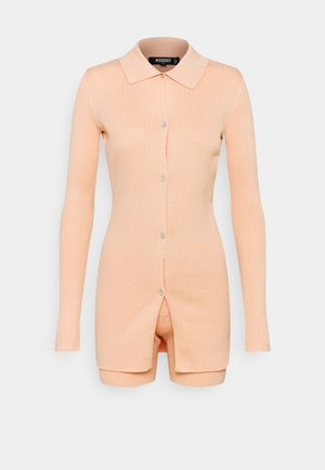 COLLAR CARDIGAN AND BUTTON CYCLING SET - Overal - peach