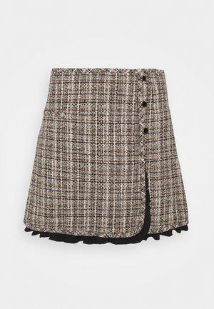 Mini skirt - beige/violet