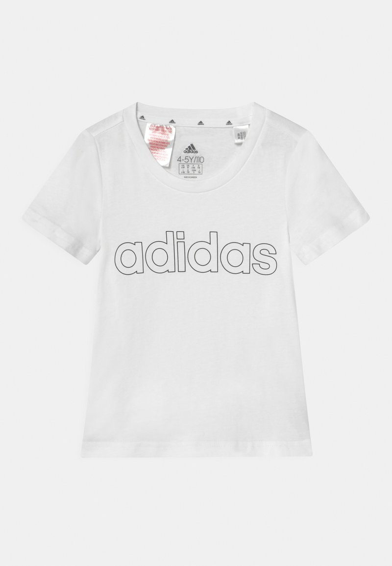 adidas Performance - UNISEX - T-Shirt print - white/black
