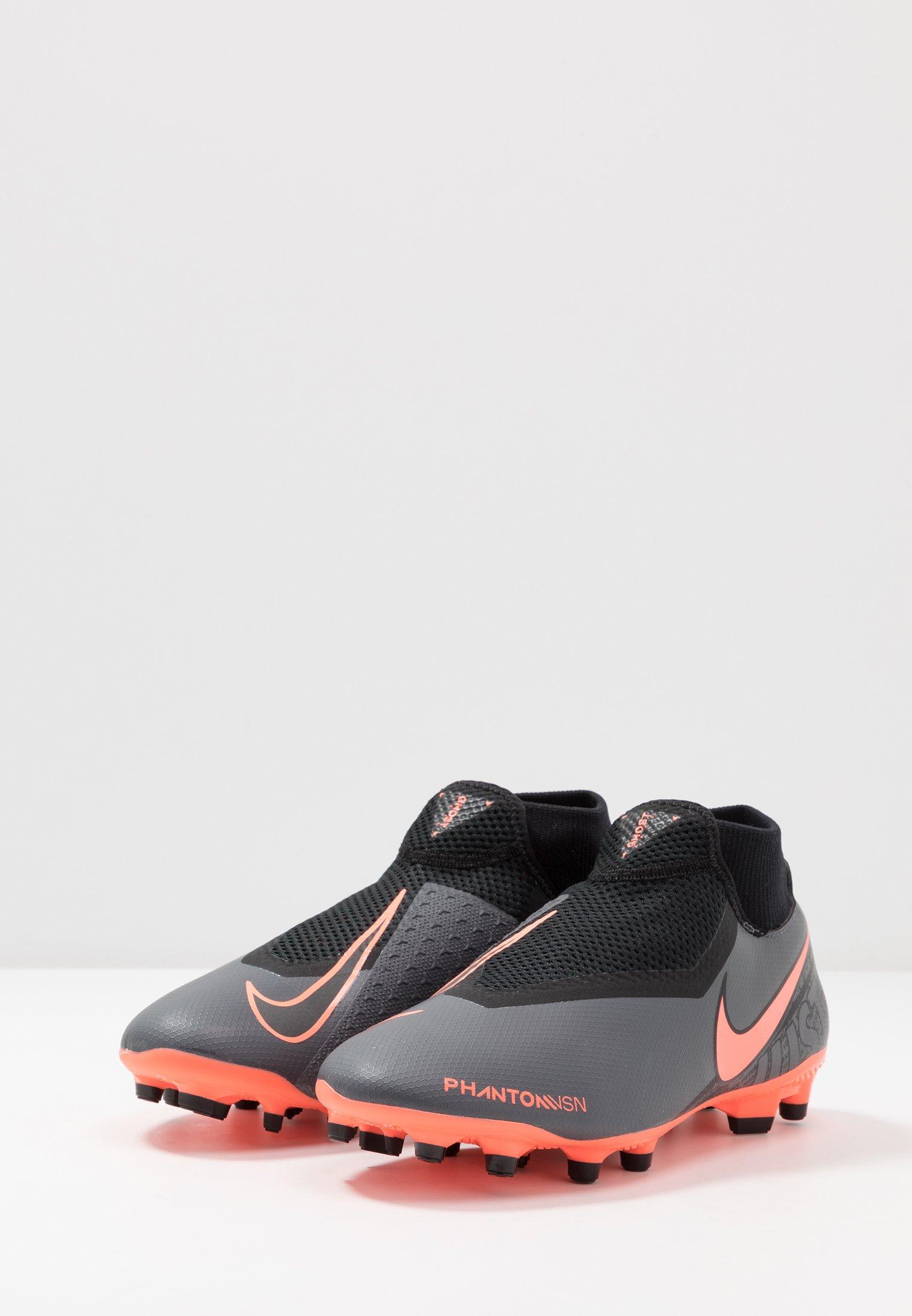 Nike Performance PHANTOM VSN ACADEMY DF FG/MG - Fußballschuh Nocken - dark grey/bright mango/black/dunkelgrau - Herrenschuhe i9Z7e