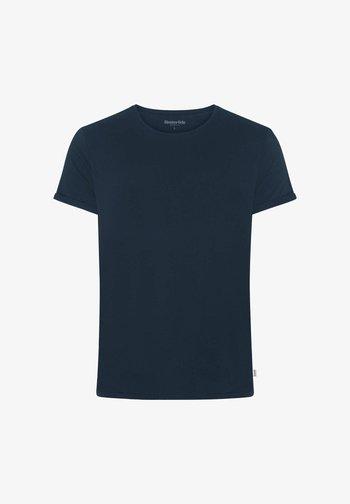 JIMMY SOLID - T-shirts basic - marineblue