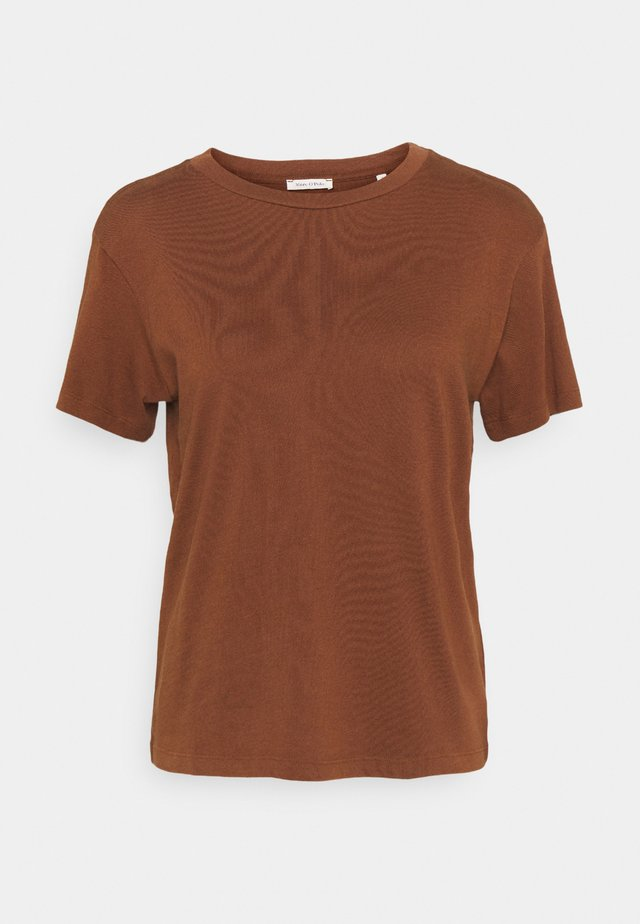 SHORT SLEEVE ROUND NECK - T-shirt basic - chestnut brown