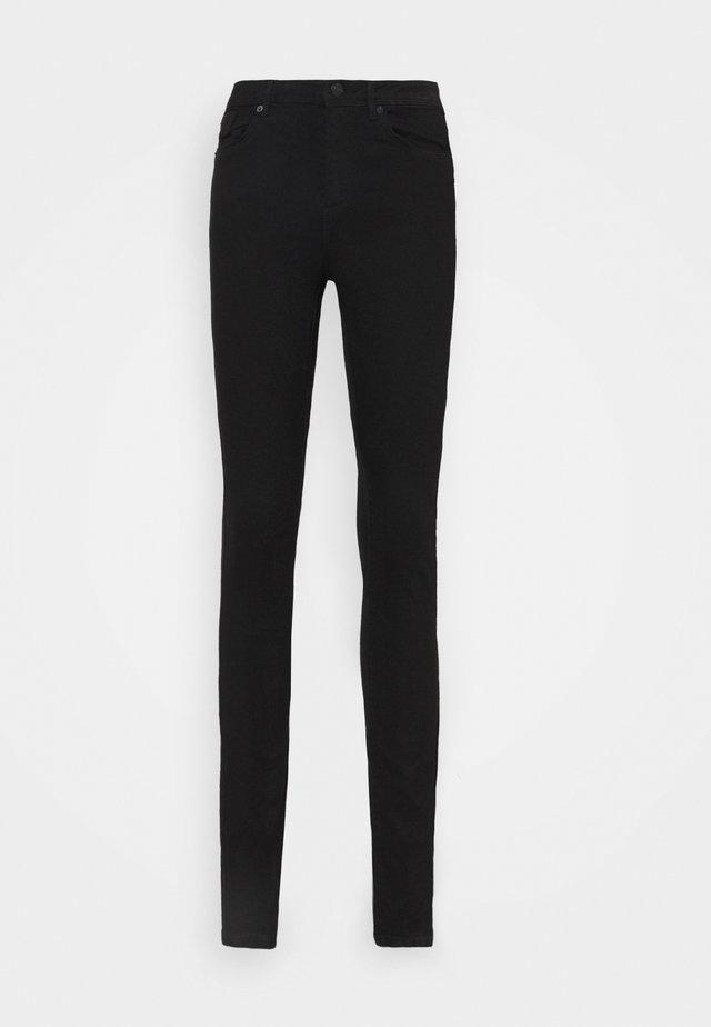 VMTANYA PIPING - Jeansy Skinny Fit - black