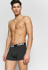 Puma - SPACEDYE STRIPE BOXER 2 PACK - Panties - black - 0