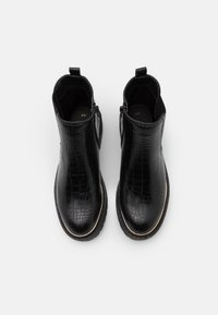 New Look - DANI PIPED CHELSEA - Platform ankle boots - black - 5