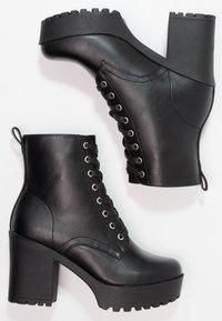 Even&Odd - Kotníková obuv na vysokém podpatku - black - 2