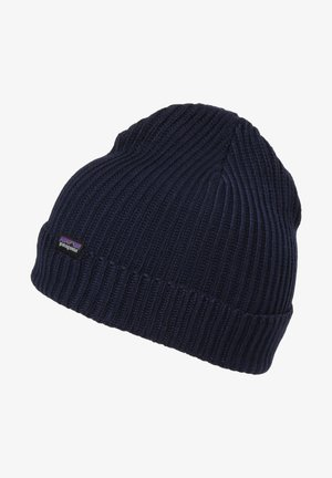 Beanie - mottled dark blue