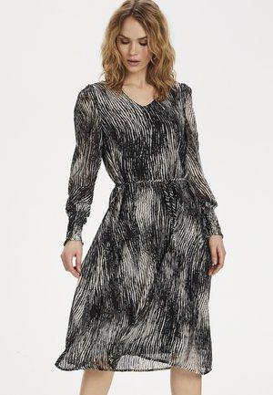 KAJENNY - Day dress - black paint stripe
