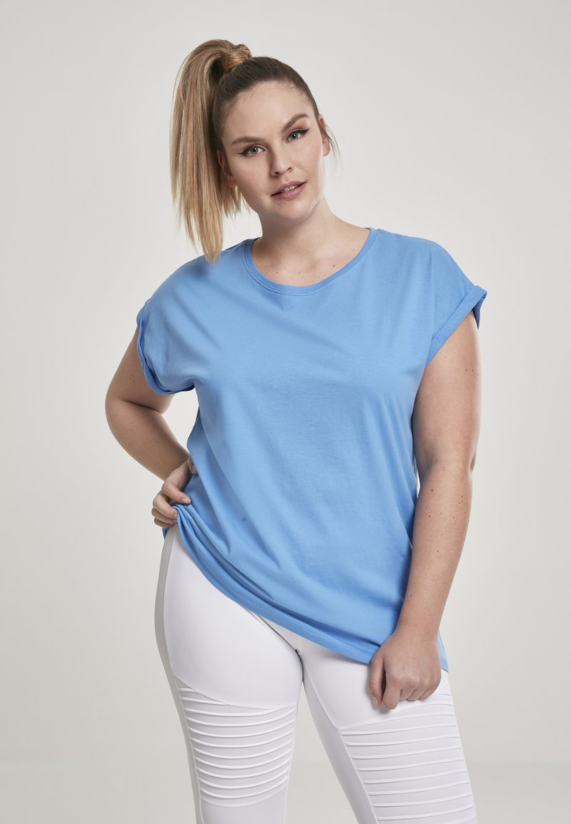 Urban Classics - EXTENDED SHOULDER TEE - Camiseta básica - horizonblue