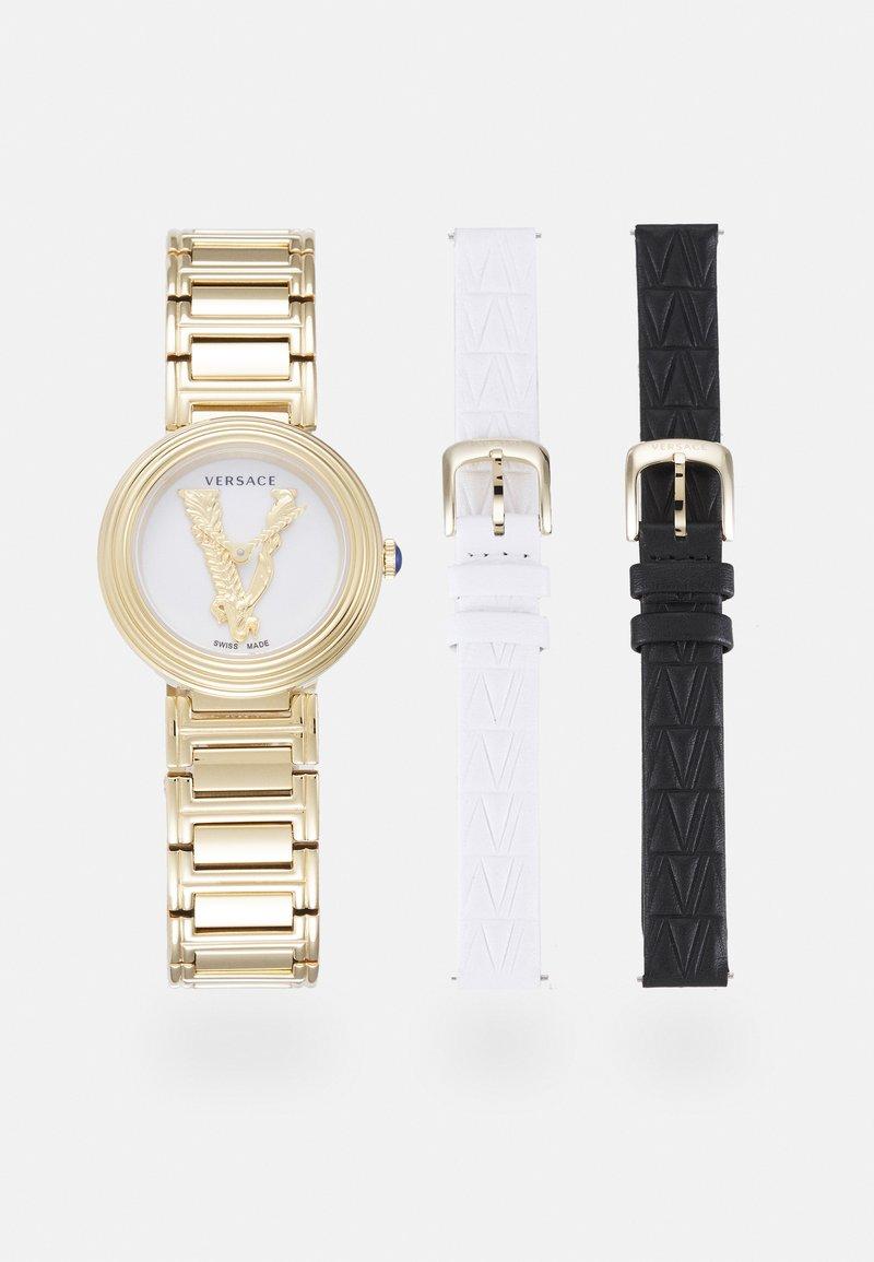 Versace Watches - VIRTUS MINI DUO - Watch - gold-colured/white