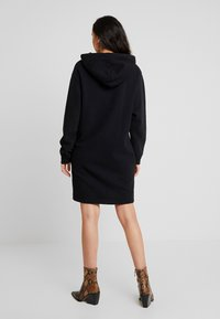 Superdry - OVERSIZED HOODED DRESS - Day dress - black - 3