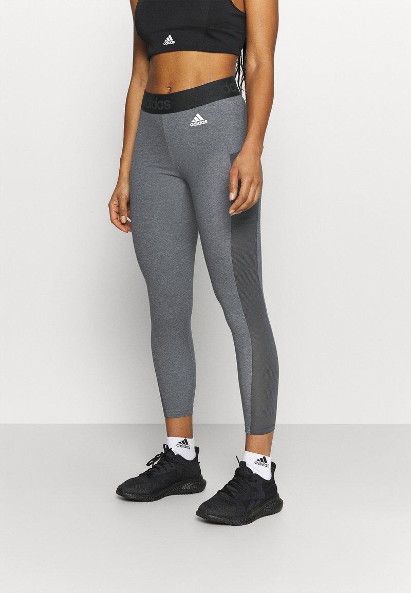 adidas Performance - Collant - dark grey heather/white