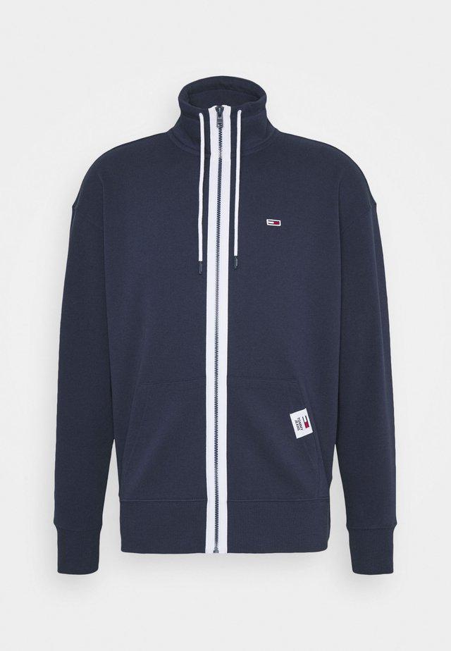 SOLID TRACK JACKET - veste en sweat zippée - blue