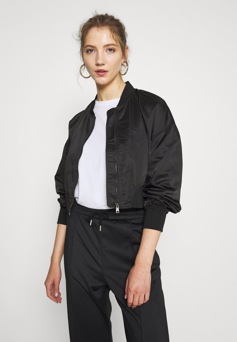 ONLY - ONLJACKIE CROPPED JACKET  - Bomber Jacket - black